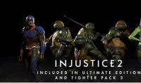 Injustice 2 - Tra i lottatori del Fighter Pack 3 ci sono le Tartarughe Ninja