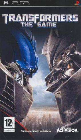 Immagine della copertina del gioco Transformers: The Game per Playstation PSP