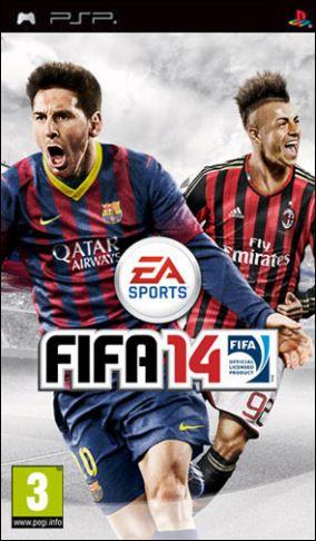 Immagine della copertina del gioco FIFA 14 per Playstation PSP