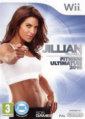 Copertina del gioco Jillian Michaels' Fitness Ultimatum 2010 per Nintendo Wii