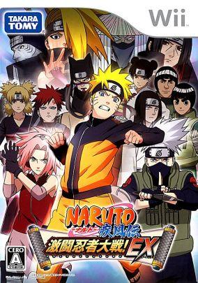 Immagine della copertina del gioco Naruto Shippuuden: Gekitou Ninja Taisen EX per Nintendo Wii