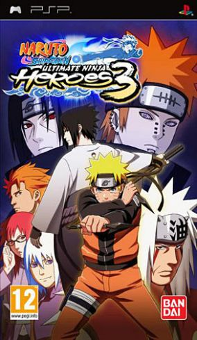 Copertina del gioco Naruto Shippuden: Ultimate Ninja Heroes 3 per Playstation PSP