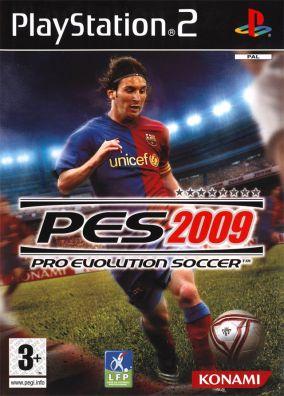 Immagine della copertina del gioco Pro Evolution Soccer 2009 per Playstation 2