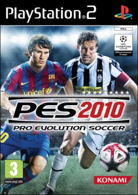 Immagine della copertina del gioco Pro Evolution Soccer 2010 per Playstation 2