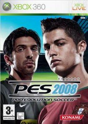 Immagine della copertina del gioco Pro Evolution Soccer 2008 per Xbox 360