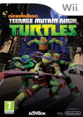 Copertina del gioco Nickelodeon: Teenage Mutant Ninja Turtles per Nintendo Wii