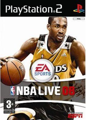 Immagine della copertina del gioco NBA Live 08 per Playstation 2