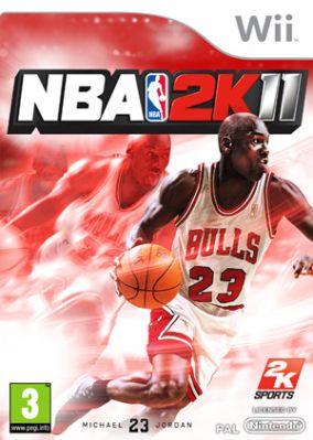 Immagine della copertina del gioco NBA 2K11 per Nintendo Wii