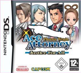Immagine della copertina del gioco Phoenix Wright: Ace Attorney - Justice For All per Nintendo DS