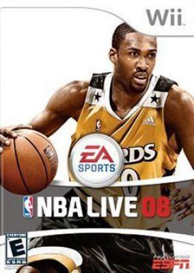 Immagine della copertina del gioco NBA Live 08 per Nintendo Wii