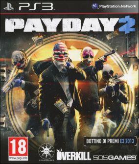 Copertina del gioco Payday 2 per Playstation 3