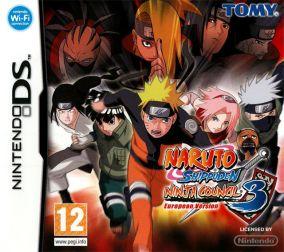 Copertina del gioco Naruto Shippuden: Ninja Council 3 European Version per Nintendo DS