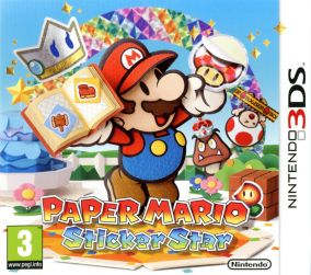 Copertina del gioco Paper Mario: Sticker Star per Nintendo 3DS