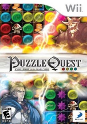 Immagine della copertina del gioco Puzzle Quest: Challenge of the Warlords per Nintendo Wii