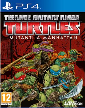Copertina del gioco Teenage Mutant Ninja Turtles: Mutanti a Manhattan per Playstation 4