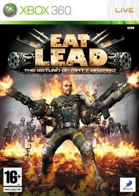 Copertina del gioco Eat Lead: The Return of Matt Hazard per Xbox 360