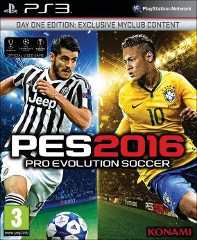 Copertina del gioco Pro Evolution Soccer 2016 per Playstation 3