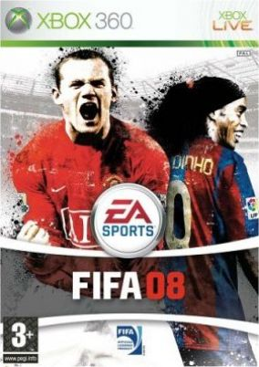 Immagine della copertina del gioco FIFA 08 per Xbox 360