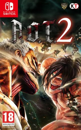 Copertina del gioco Attack on Titan 2 per Nintendo Switch