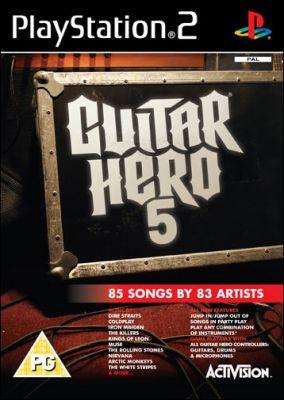 Copertina del gioco Guitar Hero 5 per Playstation 2