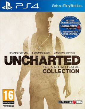 Copertina del gioco Uncharted: The Nathan Drake Collection per Playstation 4