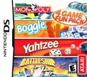 Copertina del gioco 4 Game Fun Pack: Monopoly + Boggle + Yahtzee + Battleship per Nintendo DS