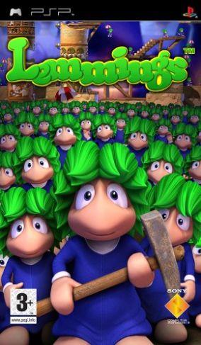 Immagine della copertina del gioco Lemmings per Playstation PSP