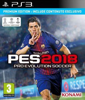 Copertina del gioco Pro Evolution Soccer 2018 per Playstation 3