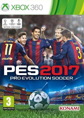 Immagine della copertina del gioco Pro Evolution Soccer 2017 per Xbox 360