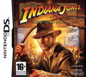 Immagine della copertina del gioco Indiana Jones e il Bastone dei Re per Nintendo DS