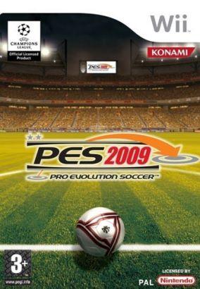 Immagine della copertina del gioco Pro Evolution Soccer 2009 per Nintendo Wii