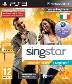 Immagine della copertina del gioco Singstar Cantautori italiani per Playstation 3