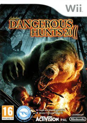 Copertina del gioco Cabela's Dangerous Hunts 2011 per Nintendo Wii