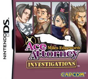 Copertina del gioco Ace Attorney Investigations: Miles Edgeworth per Nintendo DS