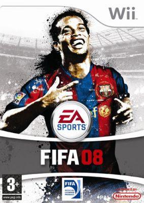 Immagine della copertina del gioco FIFA 08 per Nintendo Wii