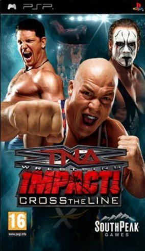 Immagine della copertina del gioco TNA iMPACT!: Cross the Line per Playstation PSP
