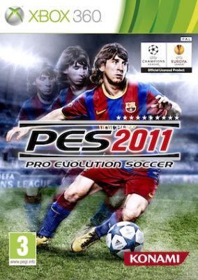 Immagine della copertina del gioco Pro Evolution Soccer 2011 per Xbox 360