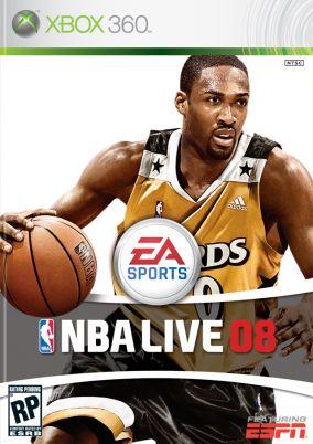 Immagine della copertina del gioco NBA Live 08 per Xbox 360