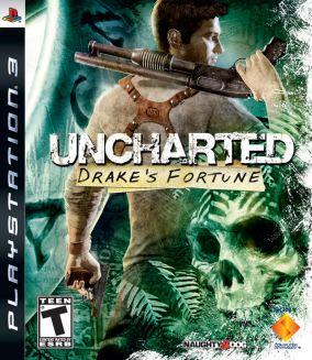 Copertina del gioco Uncharted: Drake's Fortune per Playstation 3