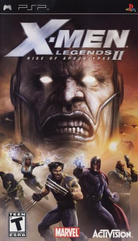 Copertina del gioco X-Men Legends II: Rise of Apocalypse per Playstation PSP