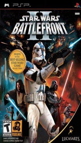 Immagine della copertina del gioco Star Wars Battlefront II per Playstation PSP