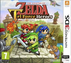 Copertina del gioco The Legend of Zelda: Tri Force Heroes per Nintendo 3DS