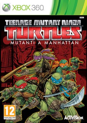 Copertina del gioco Teenage Mutant Ninja Turtles: Mutanti a Manhattan per Xbox 360
