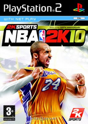Copertina del gioco NBA 2K10 per Playstation 2