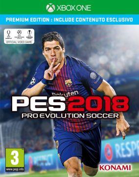Immagine della copertina del gioco Pro Evolution Soccer 2018 per Xbox One