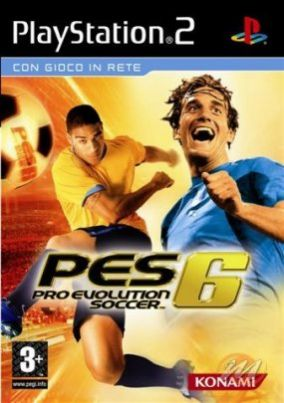 Immagine della copertina del gioco Pro Evolution Soccer 6 per Playstation 2