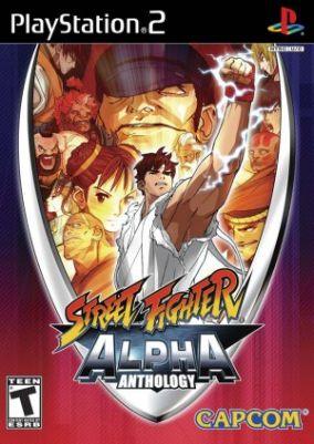 Immagine della copertina del gioco Street Fighter Alpha Anthology per Playstation 2