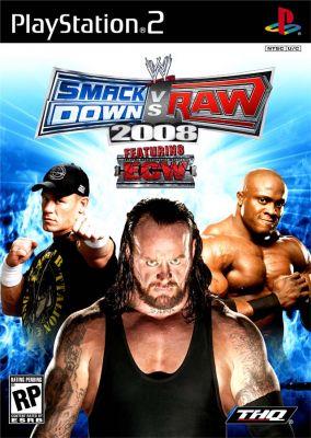Immagine della copertina del gioco WWE Smackdown vs. RAW 2008 per Playstation 2