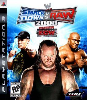 Immagine della copertina del gioco WWE Smackdown vs. RAW 2008 per Playstation 3