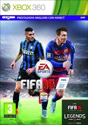 Copertina del gioco FIFA 16 per Xbox 360